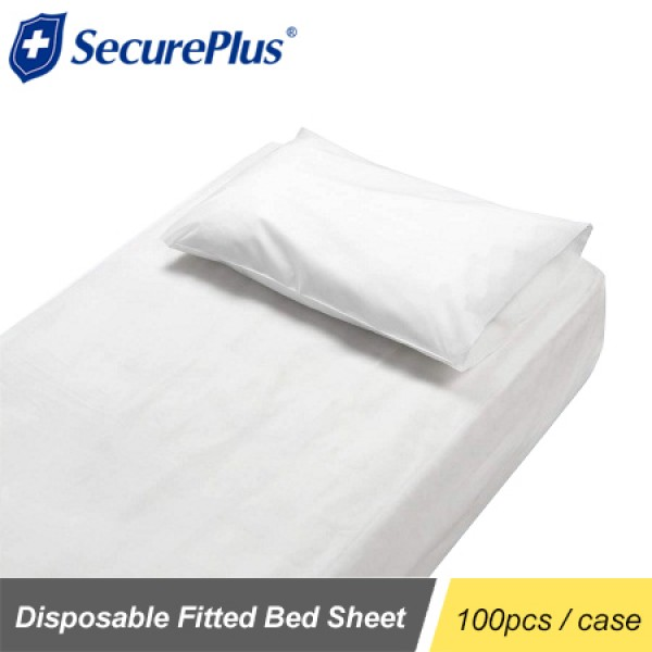 Disposable Fitted Cover Sheet Single Bed - White  $1.21/PC 100PCS/CASE