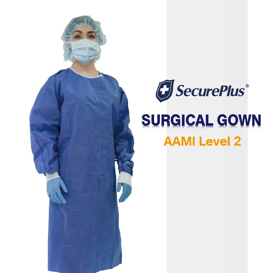 Level 3 Gowns SecurePlus® Sterile Standard Surgical Gown AAMI Level 2