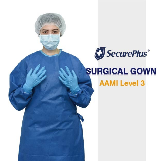 Level 3 Gowns SecurePlus® Sterile Reinforced Surgical Gown AAMI ...