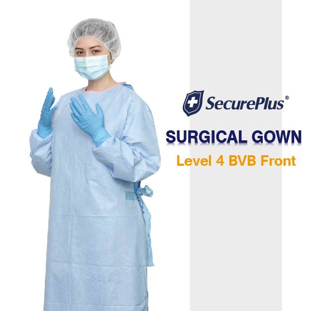 Level 3 Gowns SecurePlus® Sterile Surgical Gown AAMI Level 4 BVB ...
