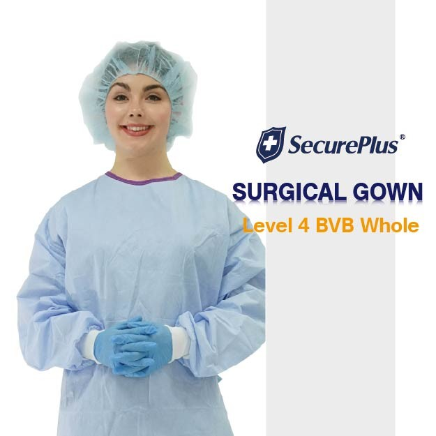 Level 3 Gowns SecurePlus® Sterile Premium Surgical Gown AAMI Level 4 ...