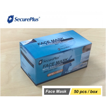 SECURE PLUS  Face Mask  TGA ARTG No:337964 AUD:0.336/pc